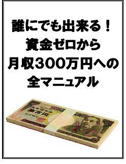 『誰にでも出来る!資金ゼロから月収300万円への全マニュアル』