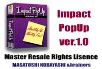 あなたのWEBサイトに付箋が貼れる!【Impact PopUp】今話題のマスターリセールライト(販売権を付けて販売できる権利)付で登場!!期間限定