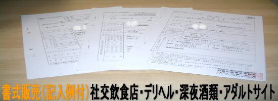 映像送信型性風俗特殊営業(アダルトサイト)届出書式集(記入例付)