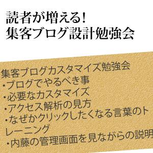 11/24大阪 読者が自動で増えるための集客ブログカスタマイズ勉強会