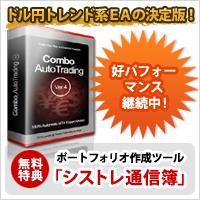 FXの MT4専用 EA Combo_AutoTrading(Ver.4)