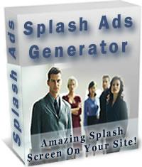 スプラッシュアズジェネレータであなたのウェブサイトに驚嘆のスプラッシュ広告のスクリーンをラクラク設置